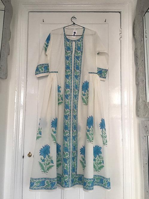 Bophali Dress -Turquoise Floral