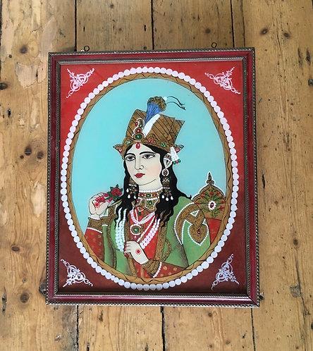 Queen Mumtaz Mahal - Reverse Glass Painting
