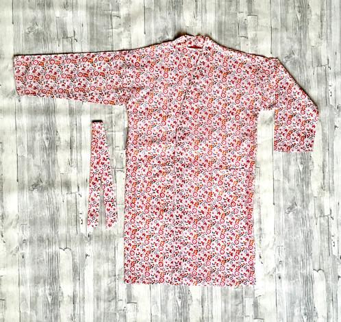 Pretty Floral Cotton Dressing Gownshort