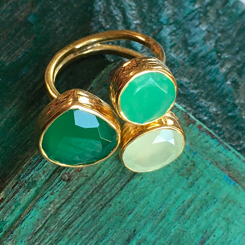 Multi Stone Adjustable Cocktail Ring