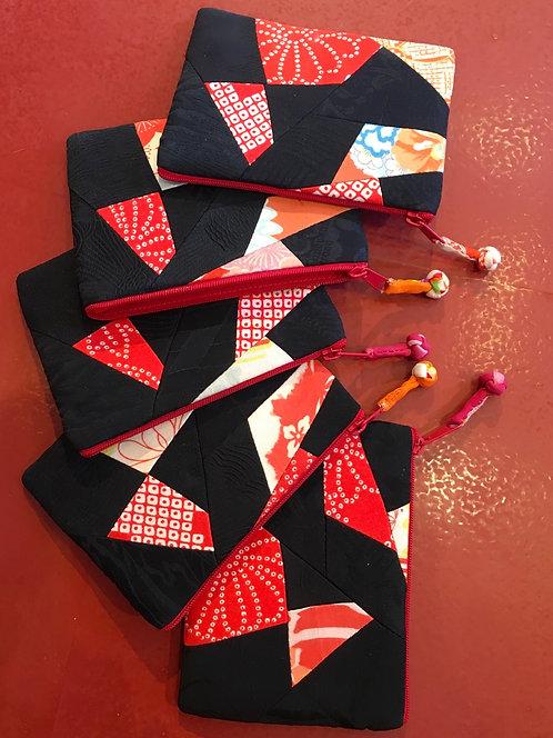 Exquisitely made patchwork silk purse