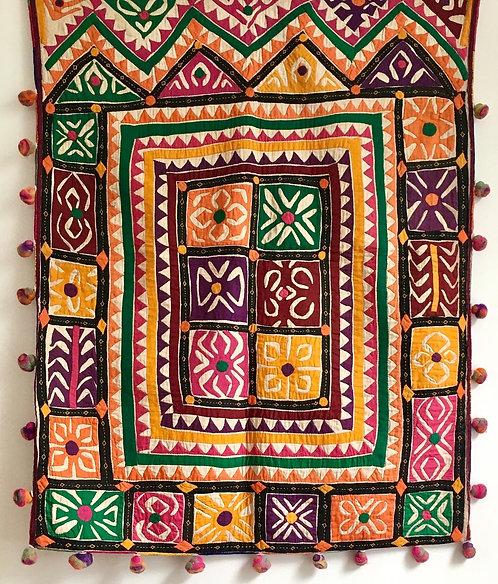 Vintage Appilque Dowry Grain Bag- Gujarat India