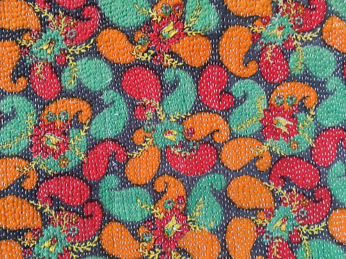 Multi Colour Vintage Kantha Quilt