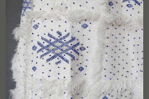 Moroccan Handira Blanket Cape