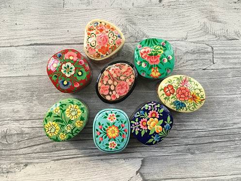 Hand Painted Ring Boxes