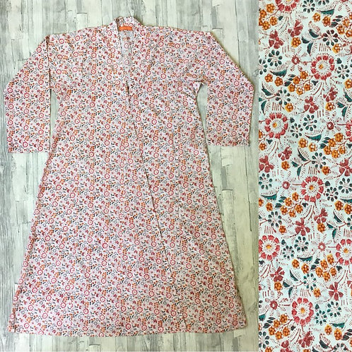 Cotton Angkara Dressing Gown; Pretty Floral
