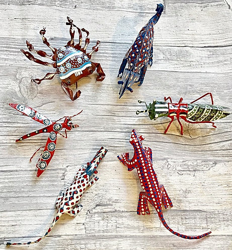 Zimbabwean Hand Painted Animal Ornaments