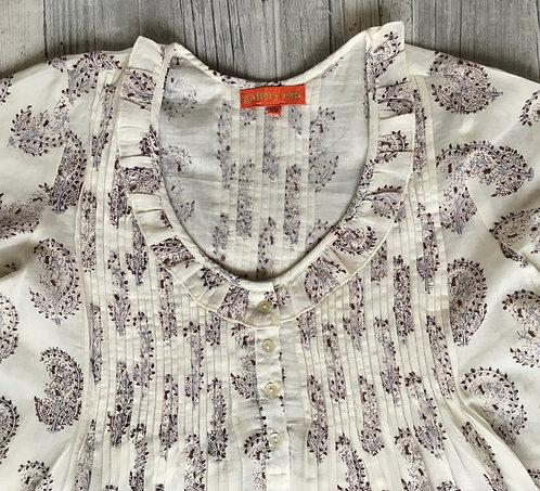 Block Printed Cotton Night Dress