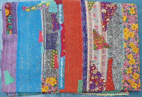 Vintage Kantha Quilt -Multi Patchwork