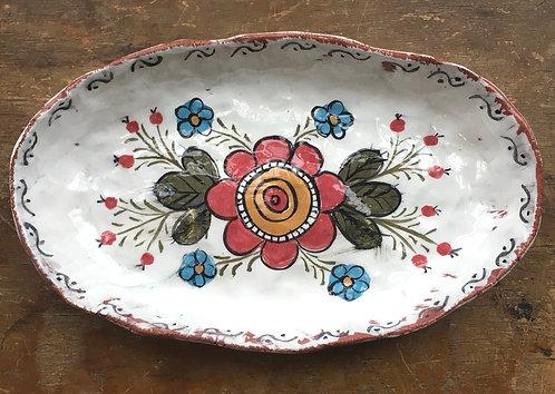 Folksy Pottery Dish