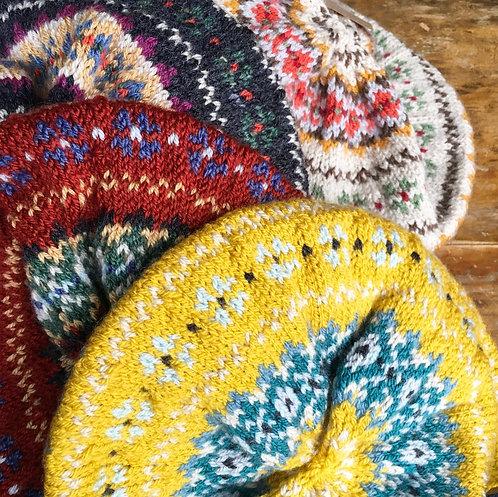 Fairisle Hand Knitted Hat