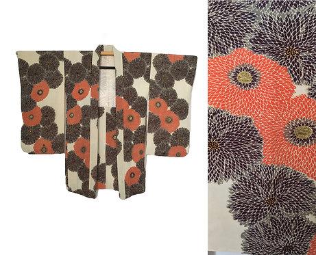 Chrysanthemum Vintage Haori Kimono