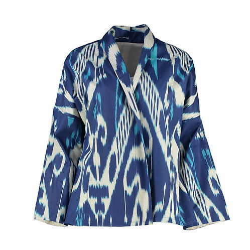 Beautiful Ikat Silk Jacket