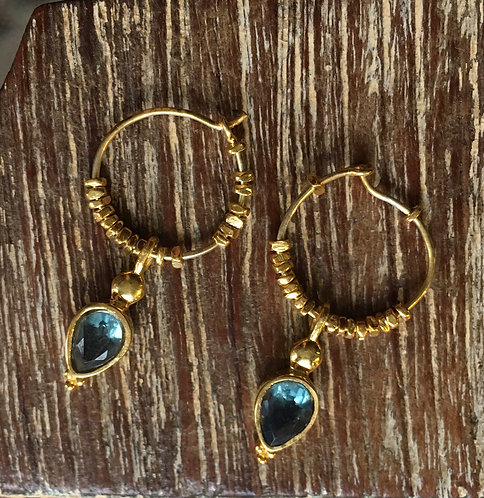 Apatite Gold Plated Hoops