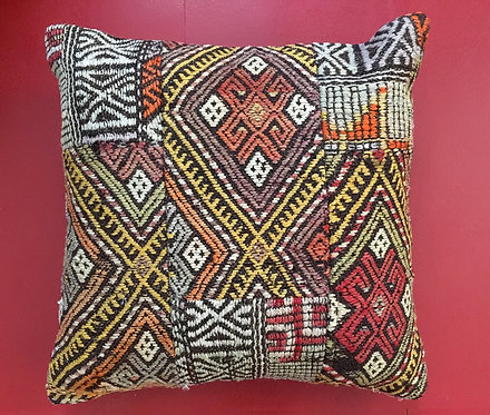 Patchwork Carpet Cushion from Turkey