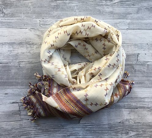 Hand Woven Gujarati Wool Shawl