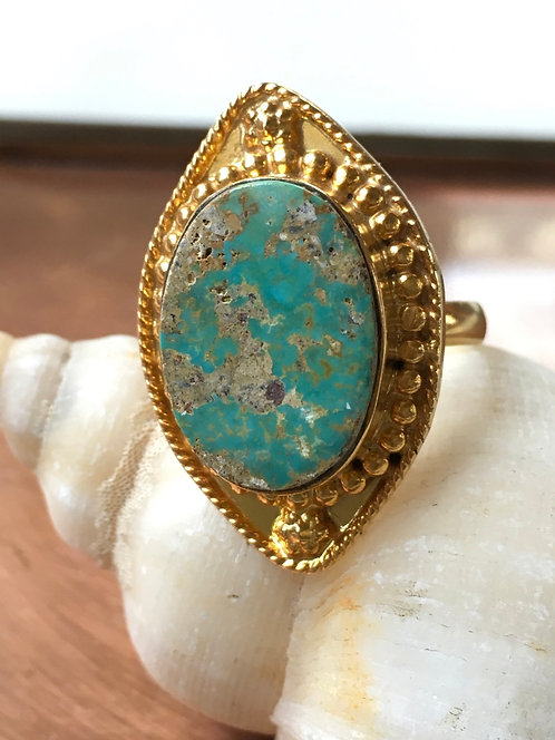 Turquoise Gold Plated Ring
