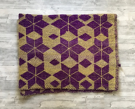 Vintage Peruvian Rug-Purple/Yellow