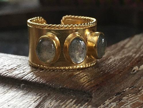 Adjustable 3 Stone Ring