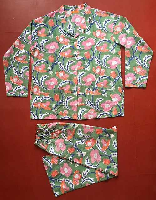Spring Green Cotton Pyjamas