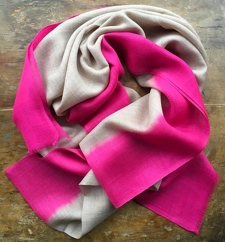 Dip Dye Lightweight Wool Scarf
