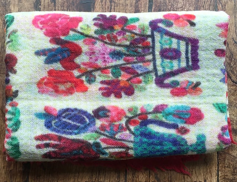 Indian Print Wool Scarf