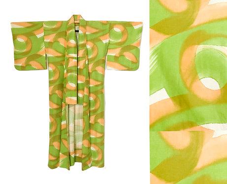 Hand Painted Swirl Kimono