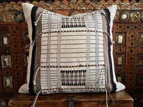 Handwoven Naga Cushion - White