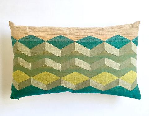 Jamdani Cushion -Green