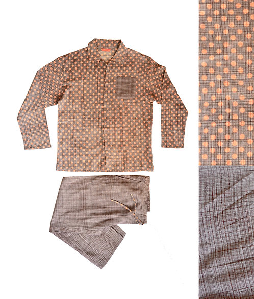 Printed Cotton Mens Pyjamas