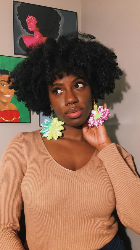 #CrochetFlowerEarrings - $15