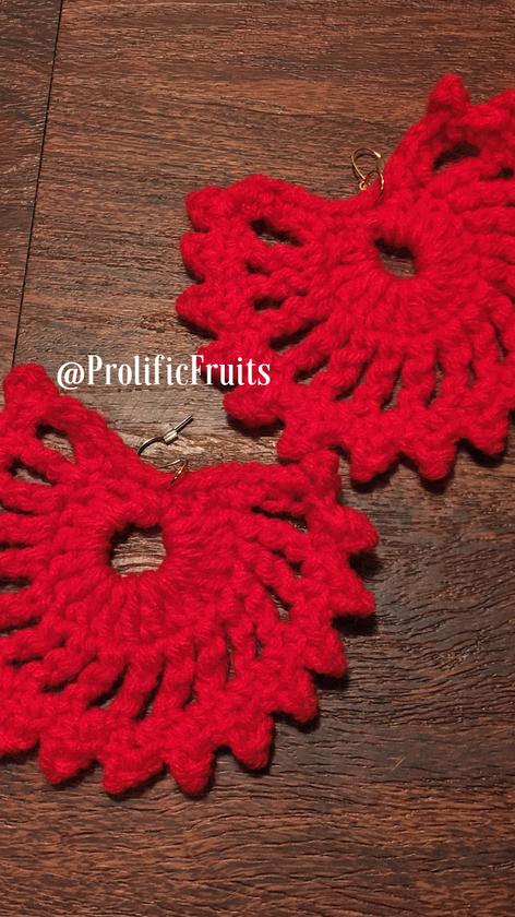 #CrochetFanEarrings - #10