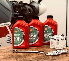 Aeroshell Sport +4, Spark Plugs, Oil Filter, Oil Drain Washer