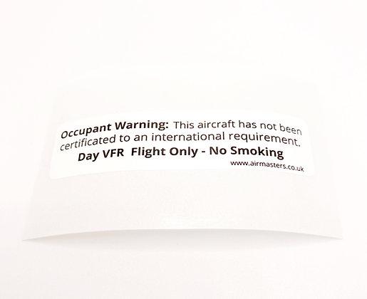 Occupant Warning Placard