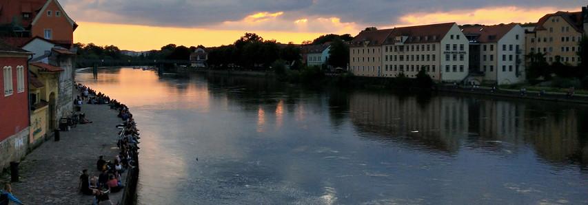Sommer Sonnenuntergang von Steinernen Brücke!