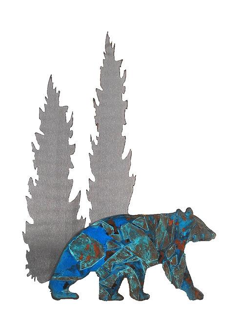 Patina Bear Copper Wall Art
