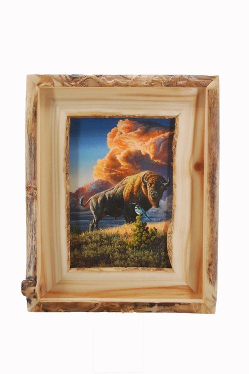 """Casual Acquaintances"" in Handmade Aspen Frame"