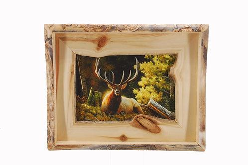 """A King Sized Bed"" in Handmade Aspen Frame"