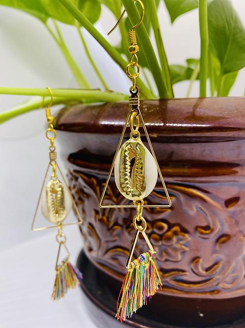 Corrie Shell Pyramid Earrings