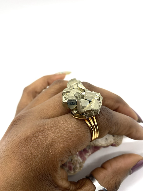 Pyrite Adjustable Ring