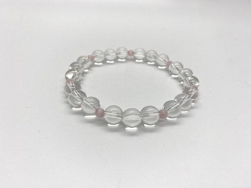 Clear & Rose Quartz Bracelet