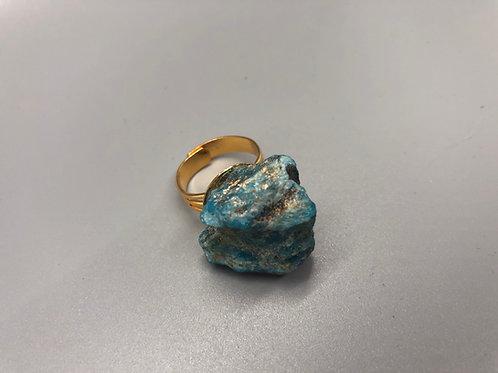 Blue Apatite Adjustable Ring
