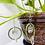Thumbnail: Clear Quartz Points Lotus Beaded Hoops