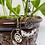 Thumbnail: Clear & Rose Quartz Lotus Hoop Earrings