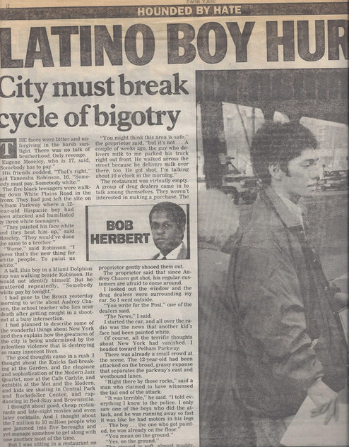 Realuyo New York Daily News Cover Story 1991
