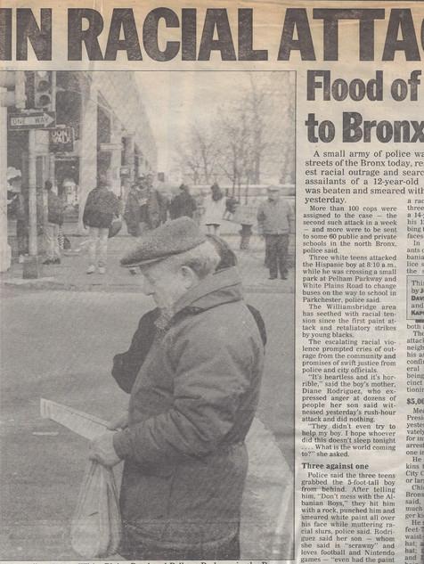 Realuyo New York Daily News Cover Story 1991