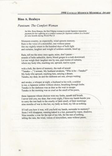 Realuyo Poetry Society of America 1998