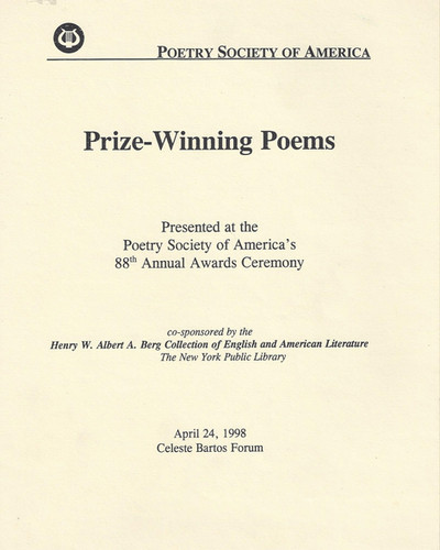 Realuyo Poetry Society of America Awards