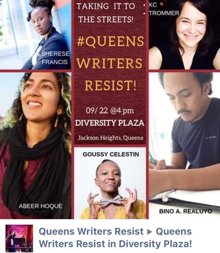 Queens Writers Resist Flyer
