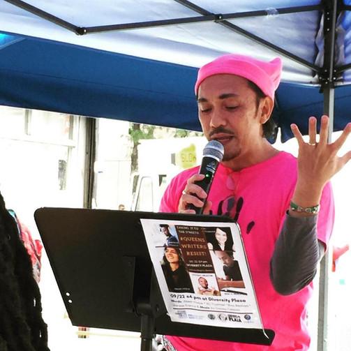 Realuyo Queens Writers Resist 2018